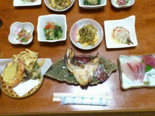 9月29日の夕食(民宿たけんこ)