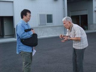 三岳酒造 佐々木社長より敷地内建物レクチャーを受ける
