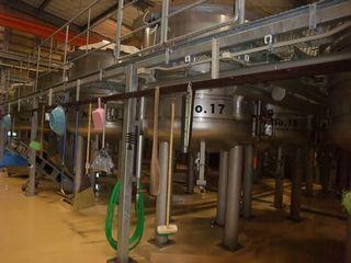 三岳酒造 一次もろみ用のタンク