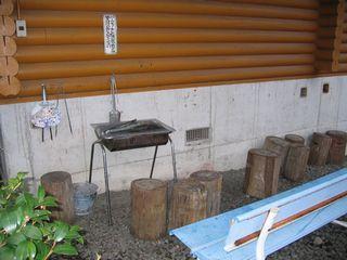 しみず温泉 コテージC バーベキュースペース