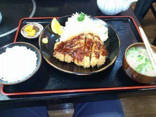 ロースカツ定食 黒豚の館